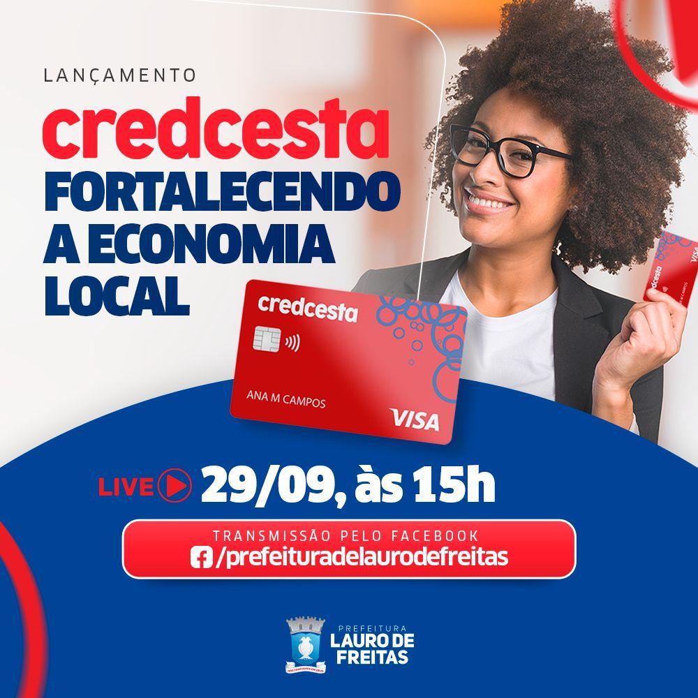 Credcesta: Lauro de Freitas lança cartão de crédito para servidores públicos, nesta quarta (29), com foco no aquecimento da economia local