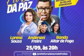 Dia do Evangélico será comemorado com live de shows neste sábado (25) em Lauro de Freitas