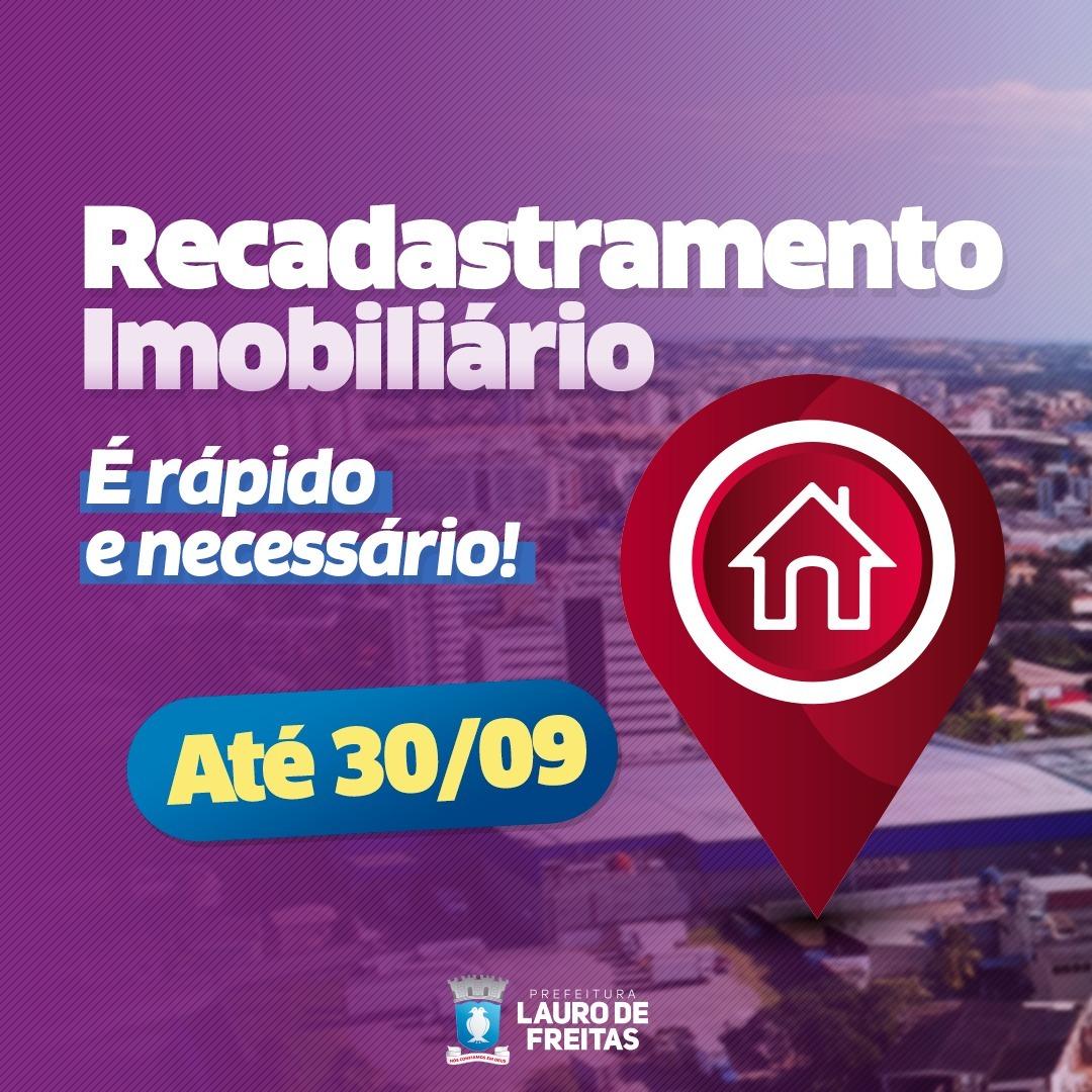 Recadastramento imobiliário segue até dia 30 em Lauro de Freitas
