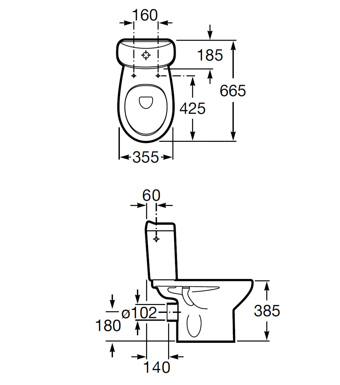 Roca Laura Close Coupled Wc Pan And 6 3 Litres Cistern