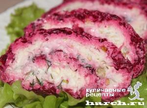 Рецепт дня: салат-рулет из свеклы с сыром, орехами и ...