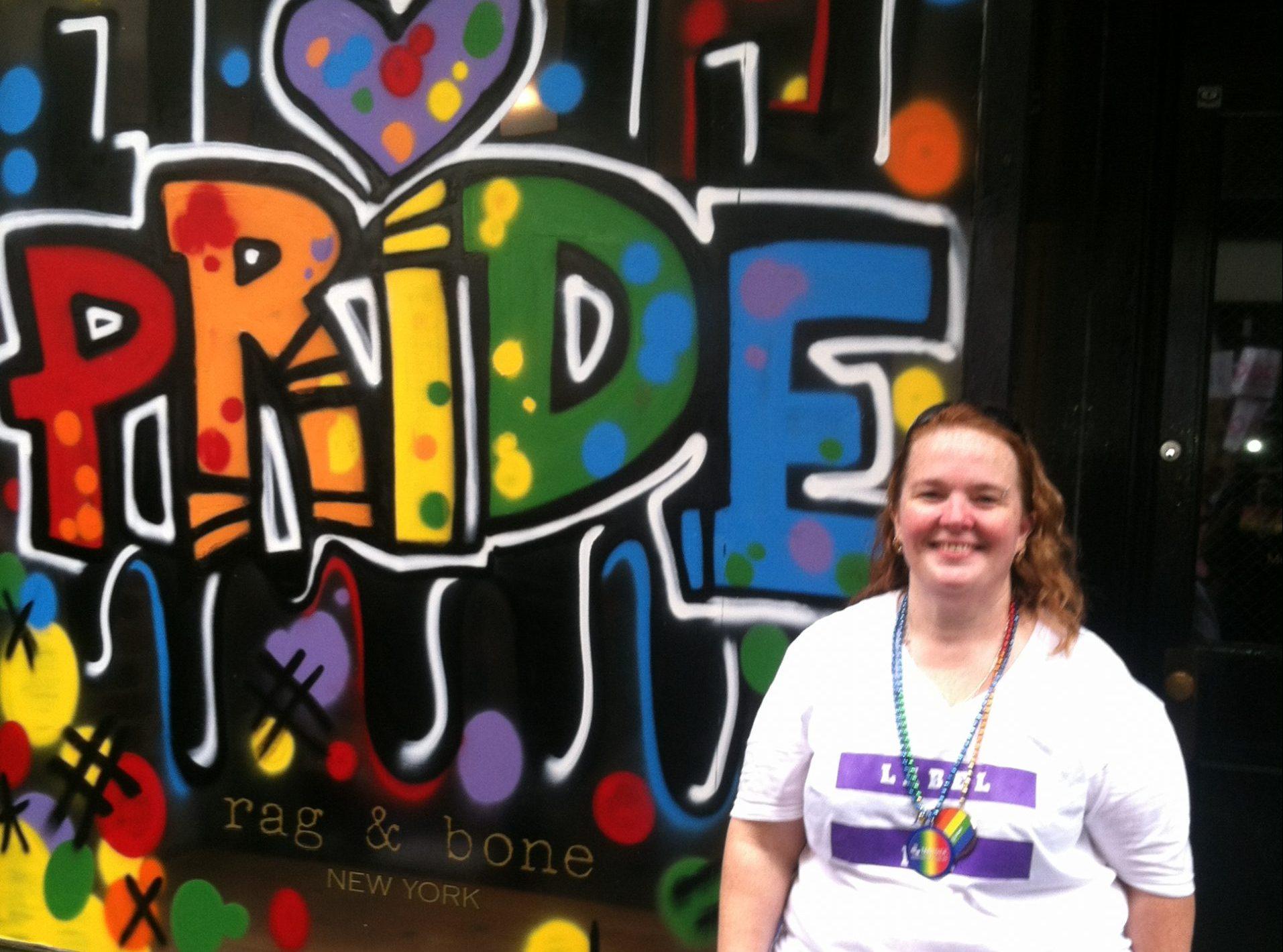 Terri Rieck at NYC Pride, June 30, 2013.