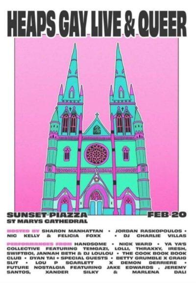 Montones de folletos gay con la iglesia