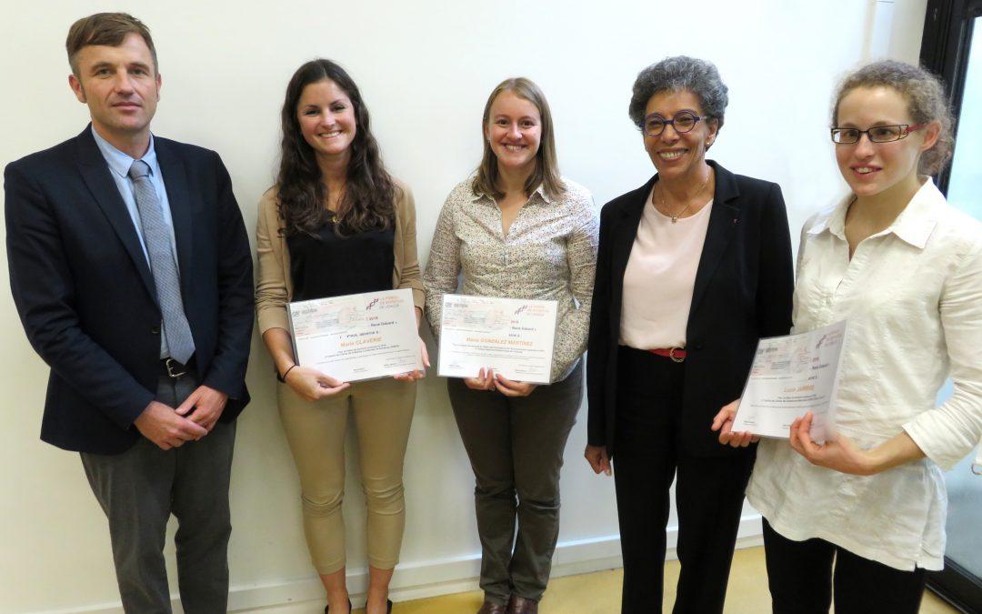 Maria Gonzalez-Martinez, lauréate du prix de thèse « Ecole de chimie de Rennes – René Dabard »