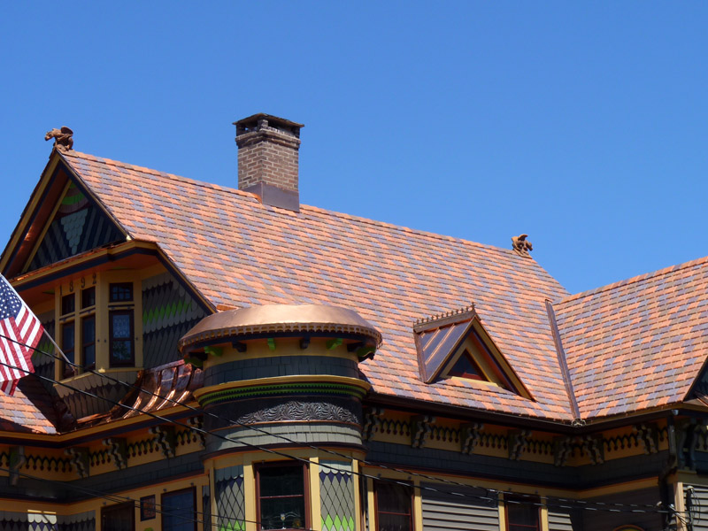 DaVinci Synthetic Slate Terracotta Blend Standing Seam Copper Roof