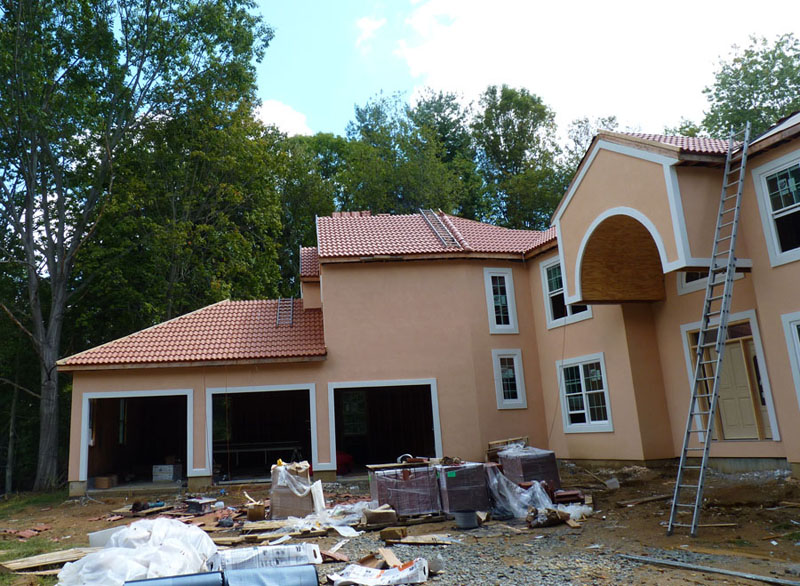 Synthetic Spanish Tile Roof Installation