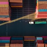 Container Yard From Above