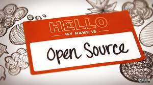 name tag with Open Source