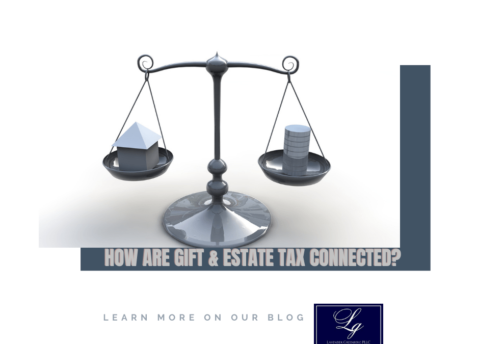 How are the gift tax and estate tax connected?