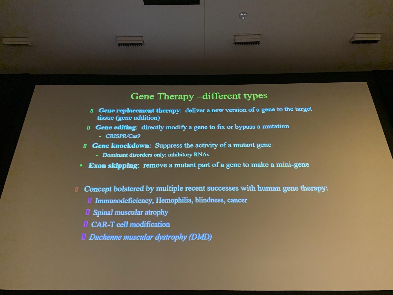 Types de thérapie génique | Dr Jeff Chamberlain