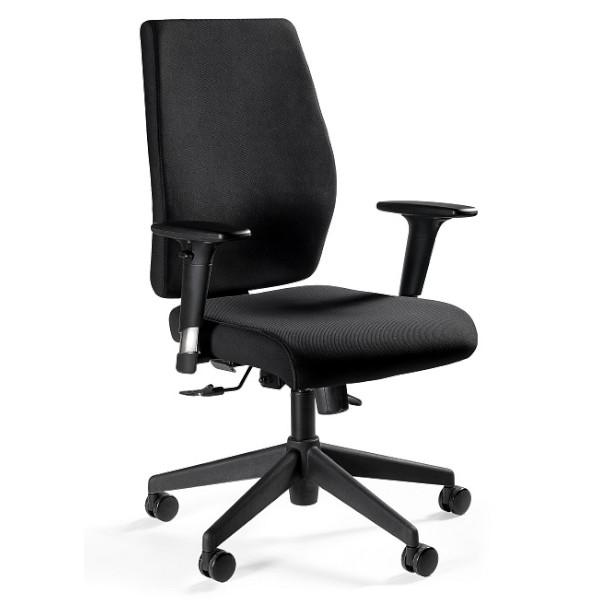 czarny fotel