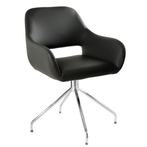 czarny fotel konf
