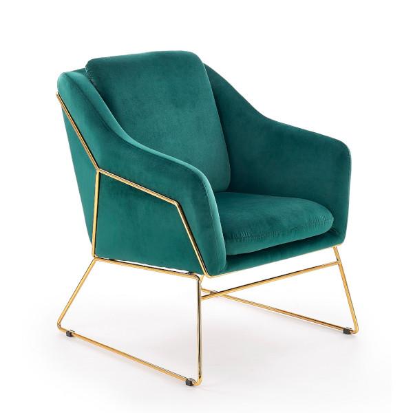 zielony fotel velvet