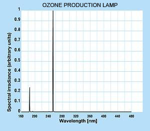 Ozone producing lamp