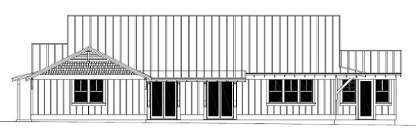 Design-Build Roswell High Performance Home_South Elevation