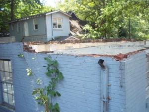 Existing Exterior wall at Bar Antico Pizza