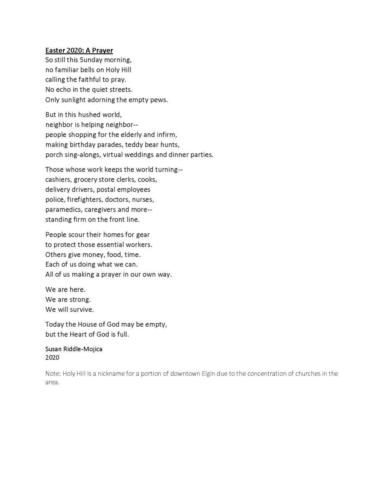 A poem written for Easter Sunday April 12, 2020