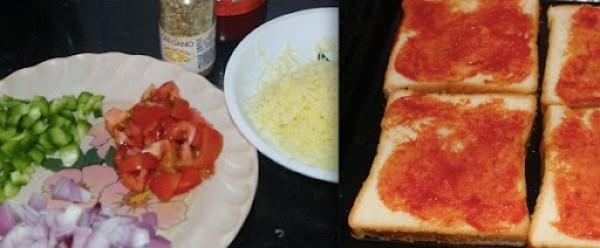 Bread pizza step1