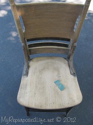 antique pew chair restoration (6)