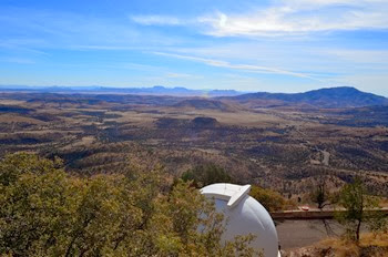 view from the top at Macdonald Observatory