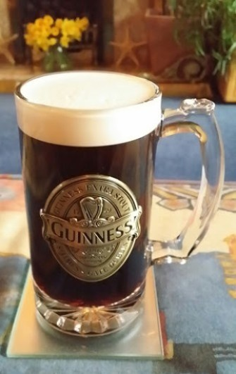 Testing my new Guinness Glass