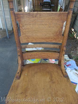 antique pew chair restoration (10)