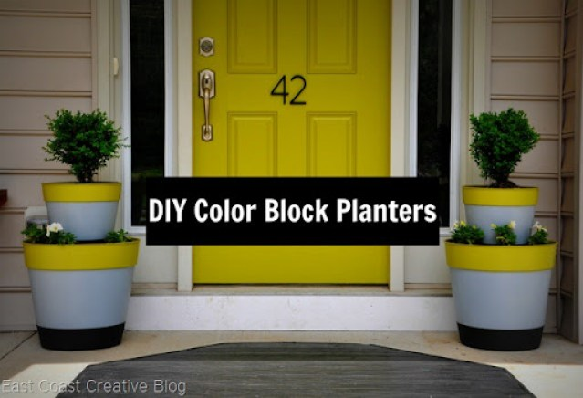 Color Block Planter