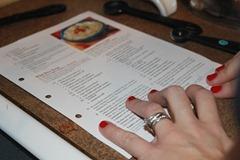 Joyful Momma hands holding white chicken Chili Recipe
