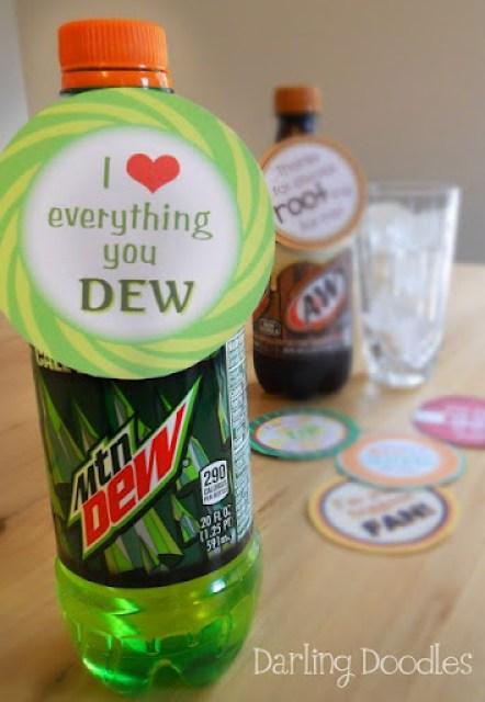 Soda Pop Printables from Darling Doodles