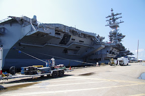 It is hard to photograph an entire carrier from up close.