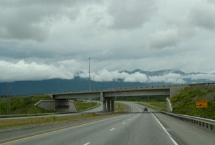 back on the road leaving Wasilla after lunch at La Fiesta Mexican Restaurant