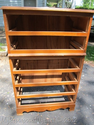 Chest of Drawers into Ent. Center (2)