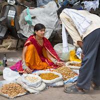 street sellers in Delhi