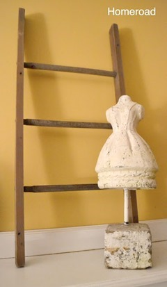 diy ladder from spindles
