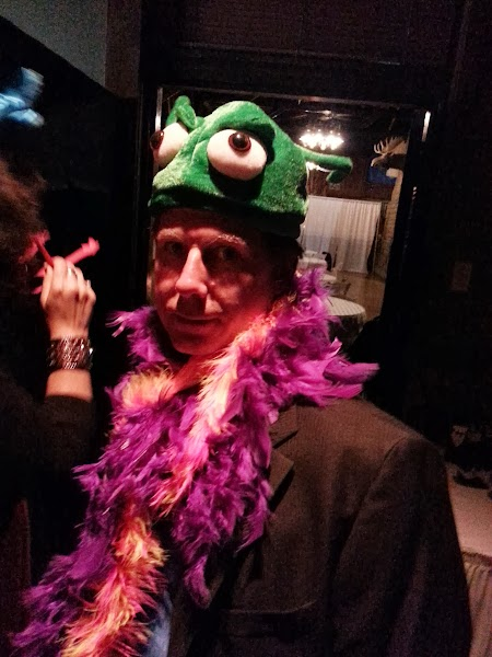 My dad getting ready for the photobooth