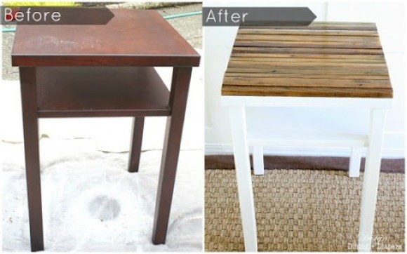 ugly table makeover
