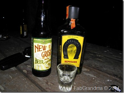 Karen's beverages of choice at party North Rim Grand Canyon National Park Arizona by Karen