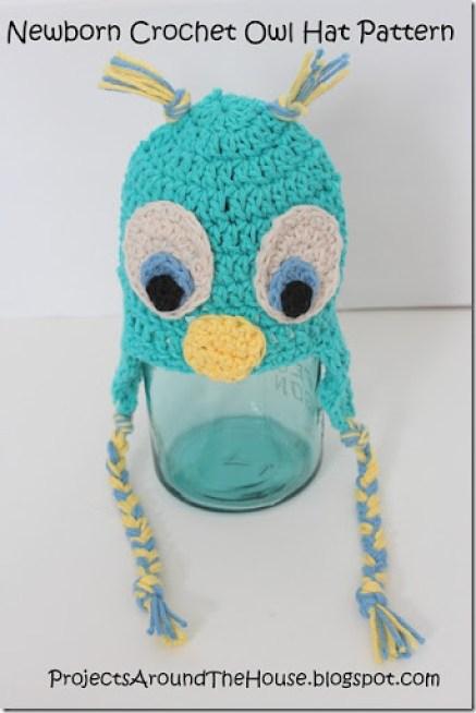 Newborn Crochet Owl Hat Pattern Renewed Claimed Path