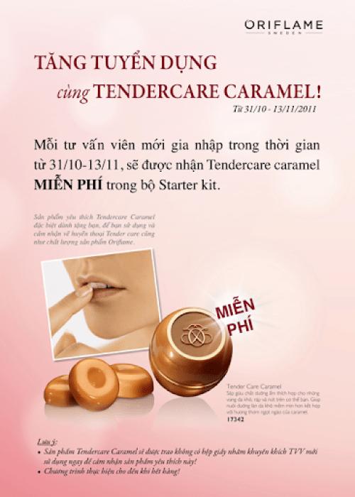 Nhận Tender Care Caramel miễn phí khi gia nhập Oriflame