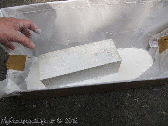 DIY whitewash 4x4 posts