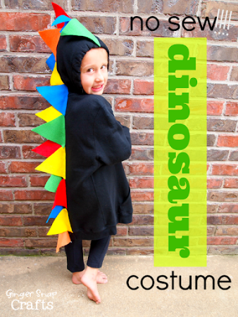 no sew dinosaur costume | Halloween costume | Book weeks costume