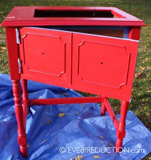 repurposed sewing cabinet