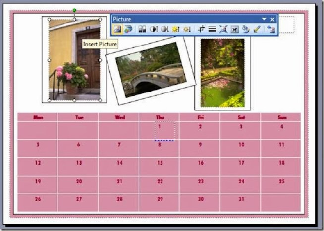 membuat kalendar sesuai keinginan