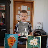 Autoportret si tablou dupa Nicolae Grigorescu. Si pictorul!