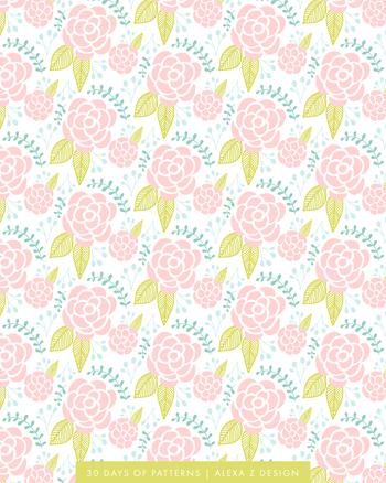 floral pattern 30 Days of Patterns Alexa Z Design