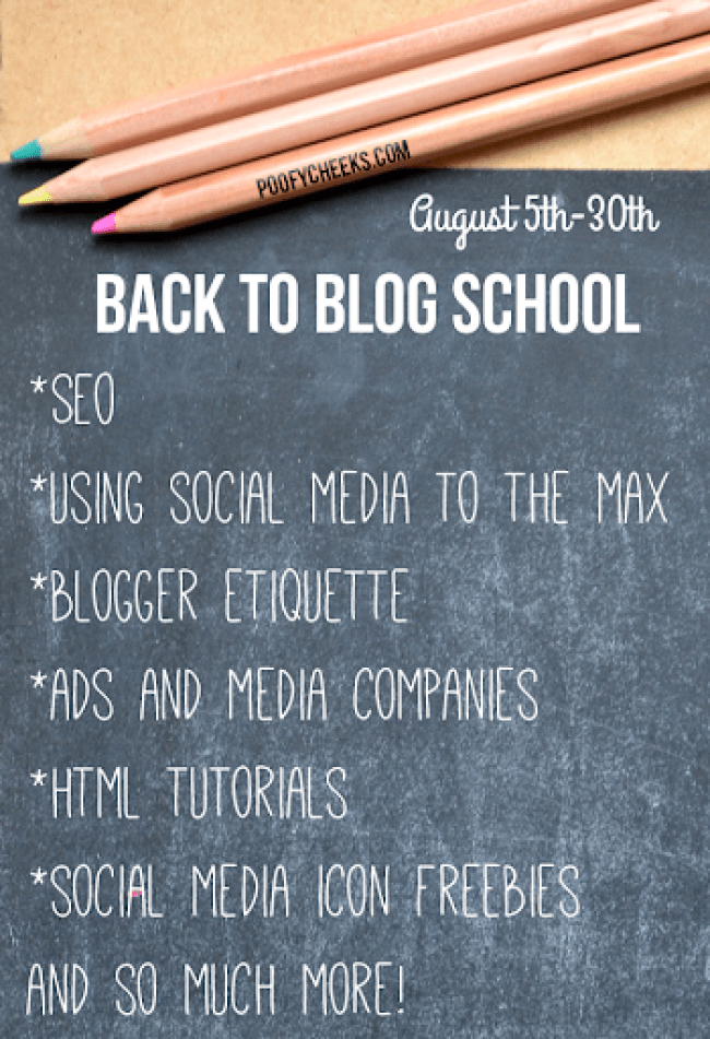 Back to Blog School Series at www.poofycheeks.com
