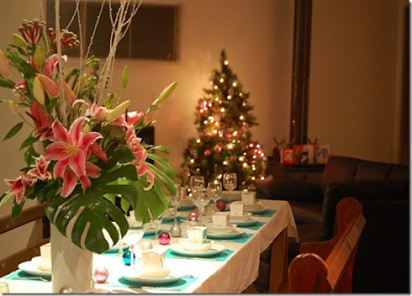christmas table setting kellie