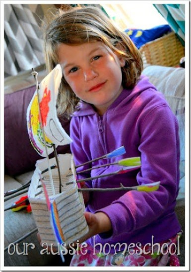 Make Your Own Viking Ships: Project Passport ~ Our Aussie Homeschool