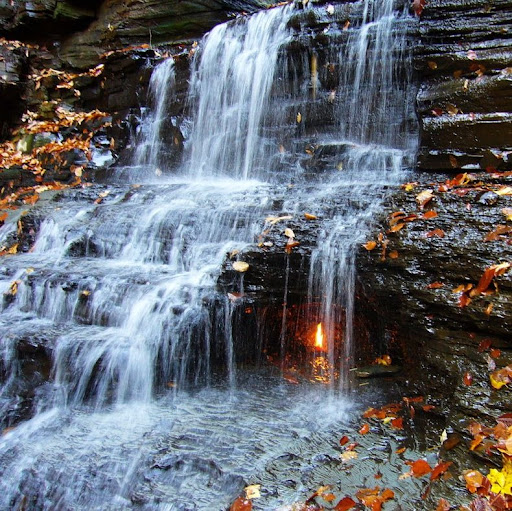 Image result for Waterfall of eternal fire, USA