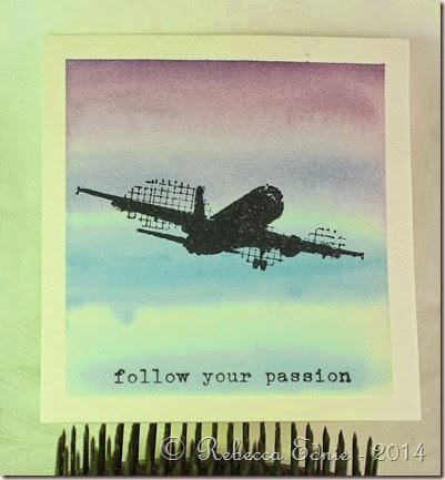 airplane watercolour